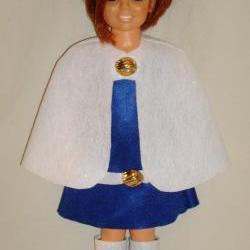 Ideal Crissy Doll Clothes, Handmade Felt Winter Wonderland Outfit